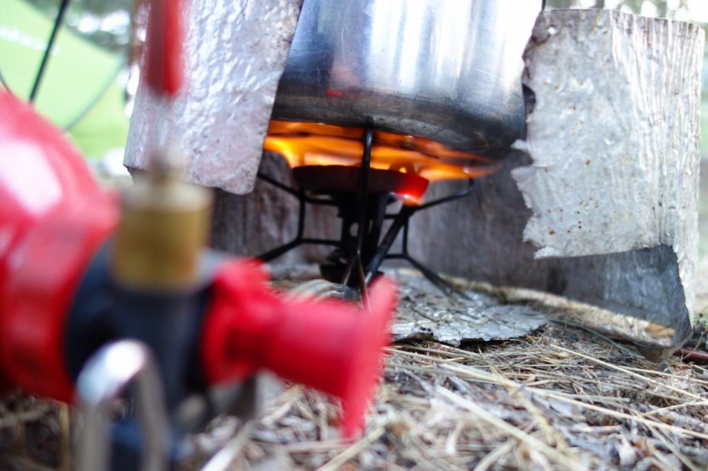 Benzinkocher mit einer oder zwei Flammen sind am leistungsstärksten, auch in höheren Gegenden.