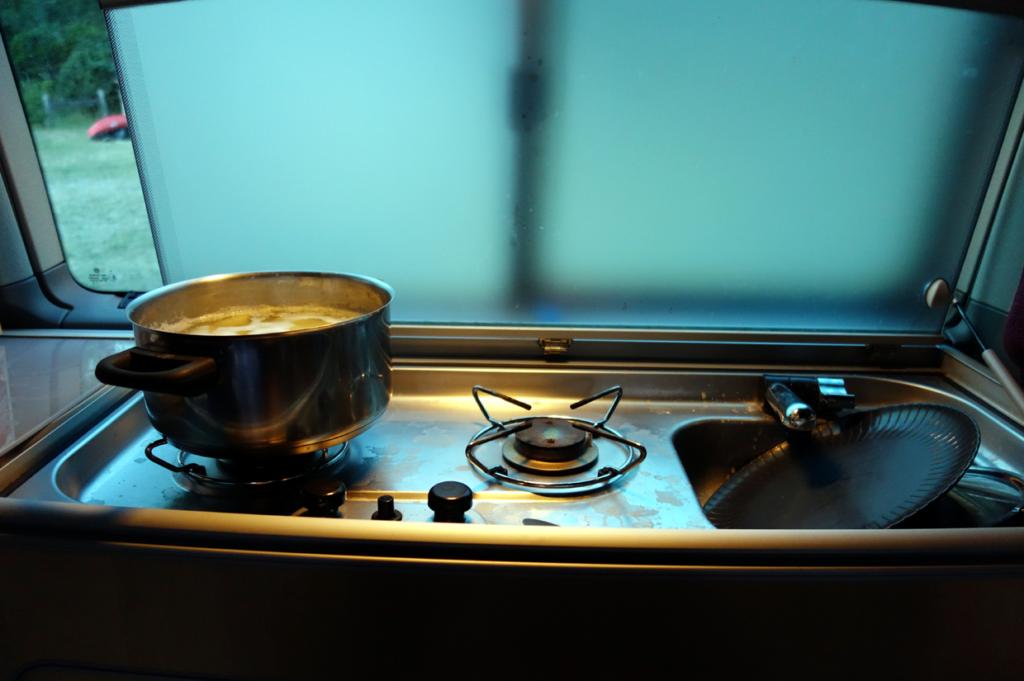 Fest integrierte Kochstellen eignen sich vor allem zum Kochen von Nudeln und Kaffe.