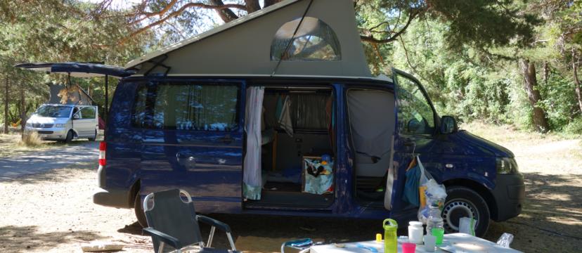 VW T5 Transporter mit langem Radstand, der Campingbus für Familien mit 3 Kindern und Hund