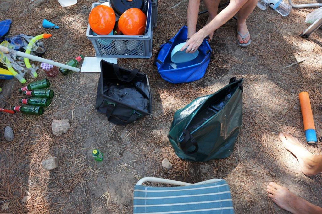 Faltschüssel für die mobile Campingküche